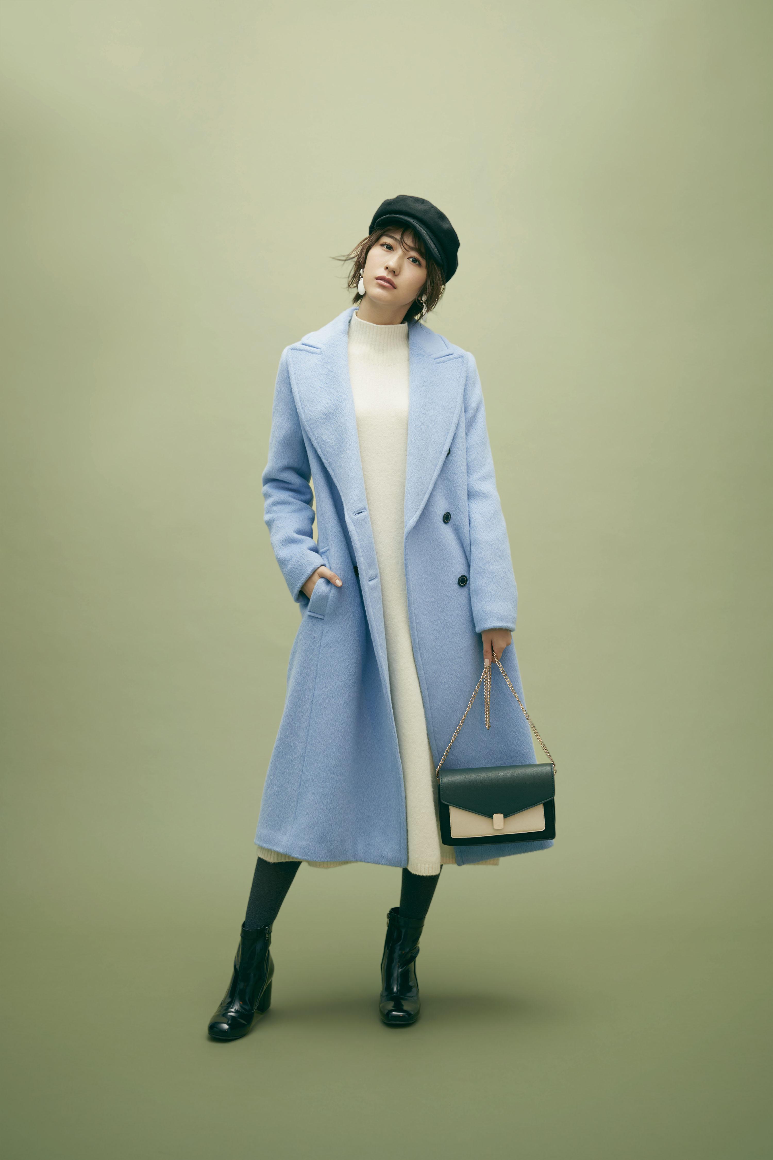 欅坂46土生瑞穂が着こなす「背が高いから似合うきれいめコート」