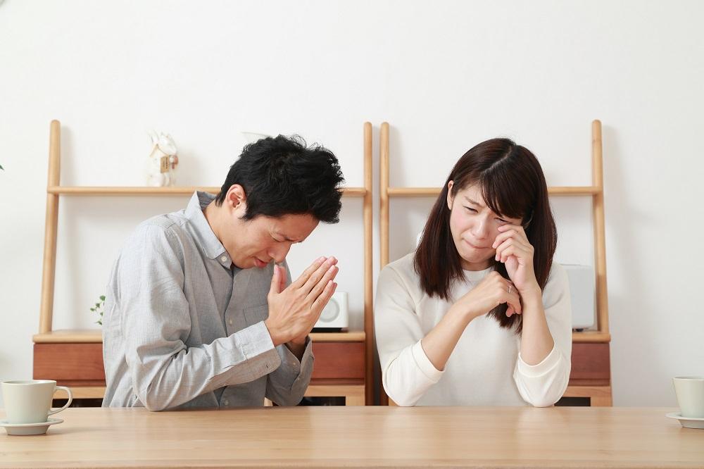 (2)彼女に泣かれて去られて反省したから