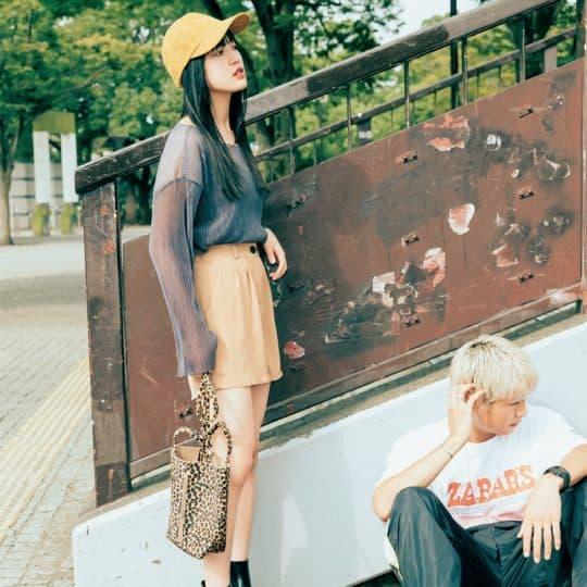 この秋大注目のシアートップス×ブラウンショーパンコーデ【韓国ECで買ったものだけで1カ月着回し】