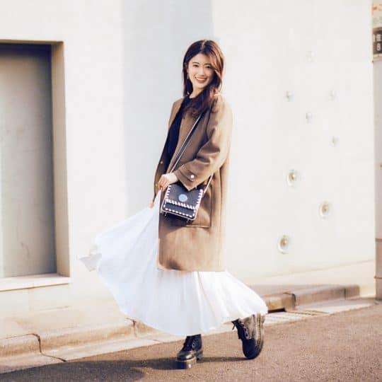 重ね着しても可愛さって大事! 真冬の好印象スカートコーデ4選