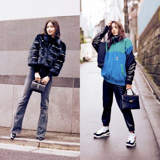 人気モデルの真冬の私服はヴィンテージMIXがキーワード!