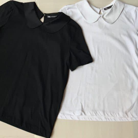 1190円ZARAの襟付きTシャツが着回し力抜群で2色買い激推し!