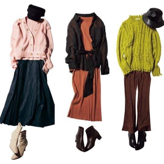 「秋服、もう揃ってる?」気温20度以下の日のカラーニットコーデ3選♡