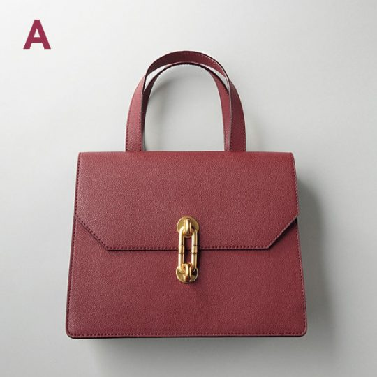 CHARLES & KEITH メタリックアクセント トートバッグ