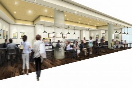 【アイランドヴィンテージコーヒー】横浜ベイクォーター店 店内イメージ (430x286)